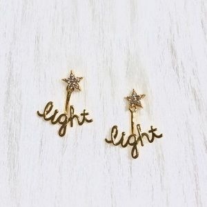 Anthropologie Light Star Front and Back Post